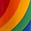 Thumbnail: Vintage 1980's Rainbow Mug