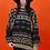 Thumbnail: 1980's Oversized Bohemian Printed Aztec Knit Sweater