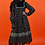 Thumbnail: 1970's Black Floral Gunne Sax Dress
