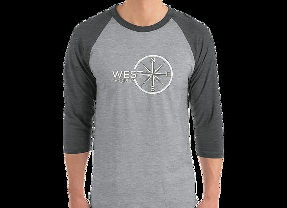 3/4 Sleeve Raglan Shirt w/ WestWorld Logo