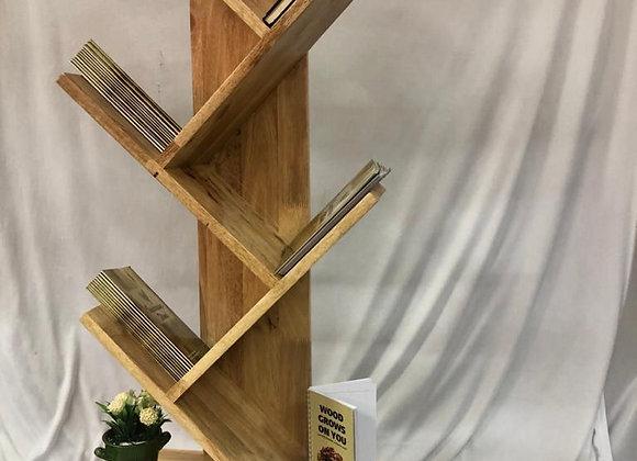 Wood Bookshelf Rack