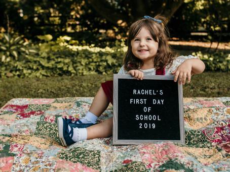 Rachel's First Day of School!