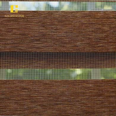 rèm cuốn hai lớp woodlook roller goldsunvina
