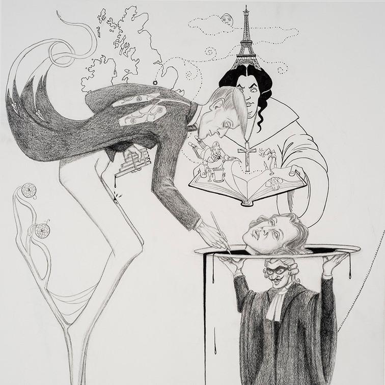 Oscar Wilde and Aubrey Beardsley