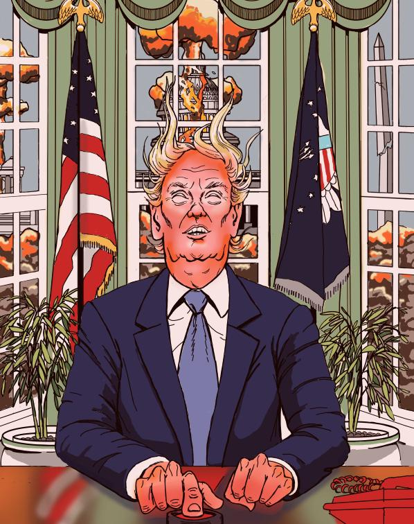 Trump Presses the Big Red Button