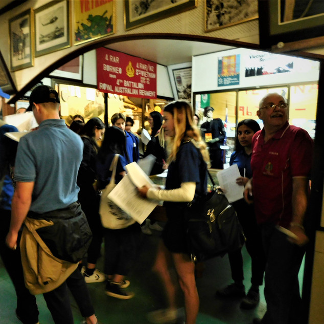 Guided tours of the museum by Veterans