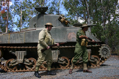 Living history groups at the museum