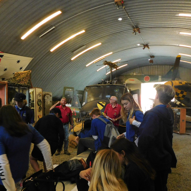 Students hear our militray history from Veteran guides