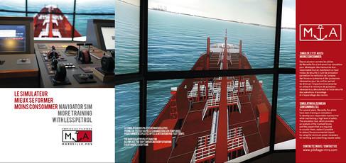 Plaquette 3 volets Simulateur du Pilotage Marseille-Fos