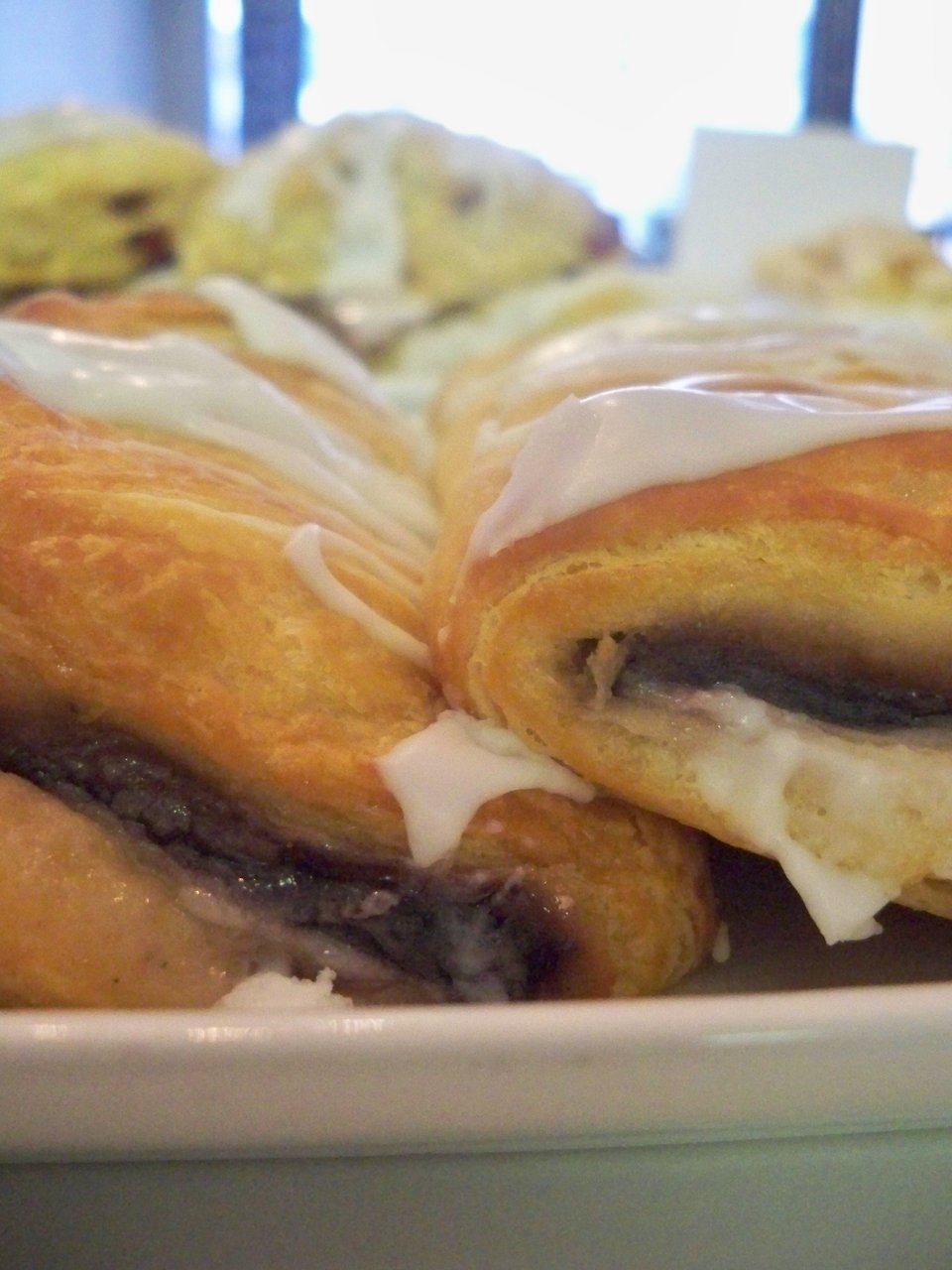 Blueberry Cream Stuffed Croissant