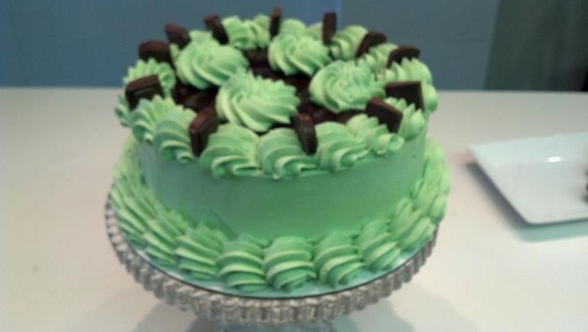 Chocolate Mint Cake 8""