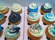 Assorted Blue Cupcakes