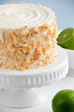Coconut Cake with toasted Coconut