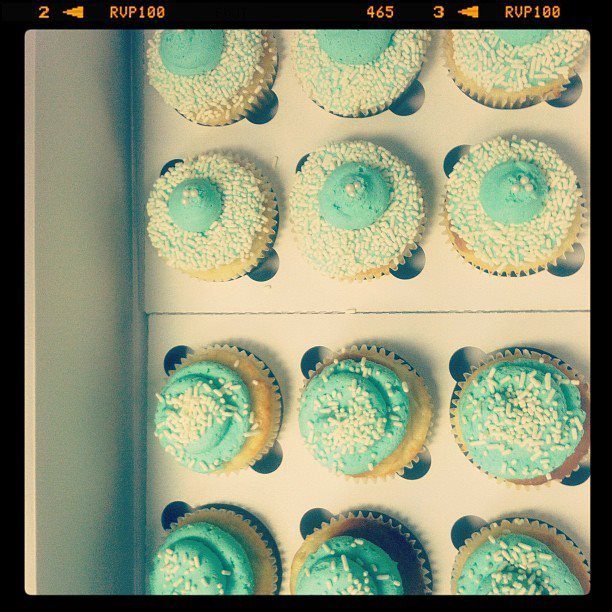 Turquoise Cupcakes