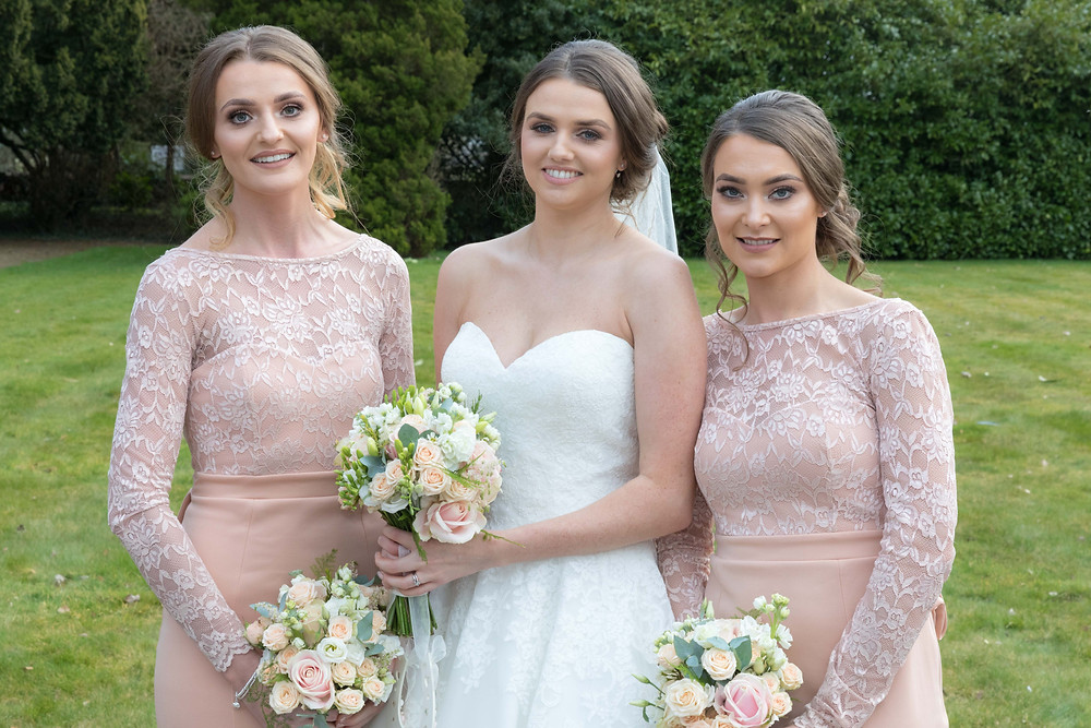Portrait of the bride & bridesmaids