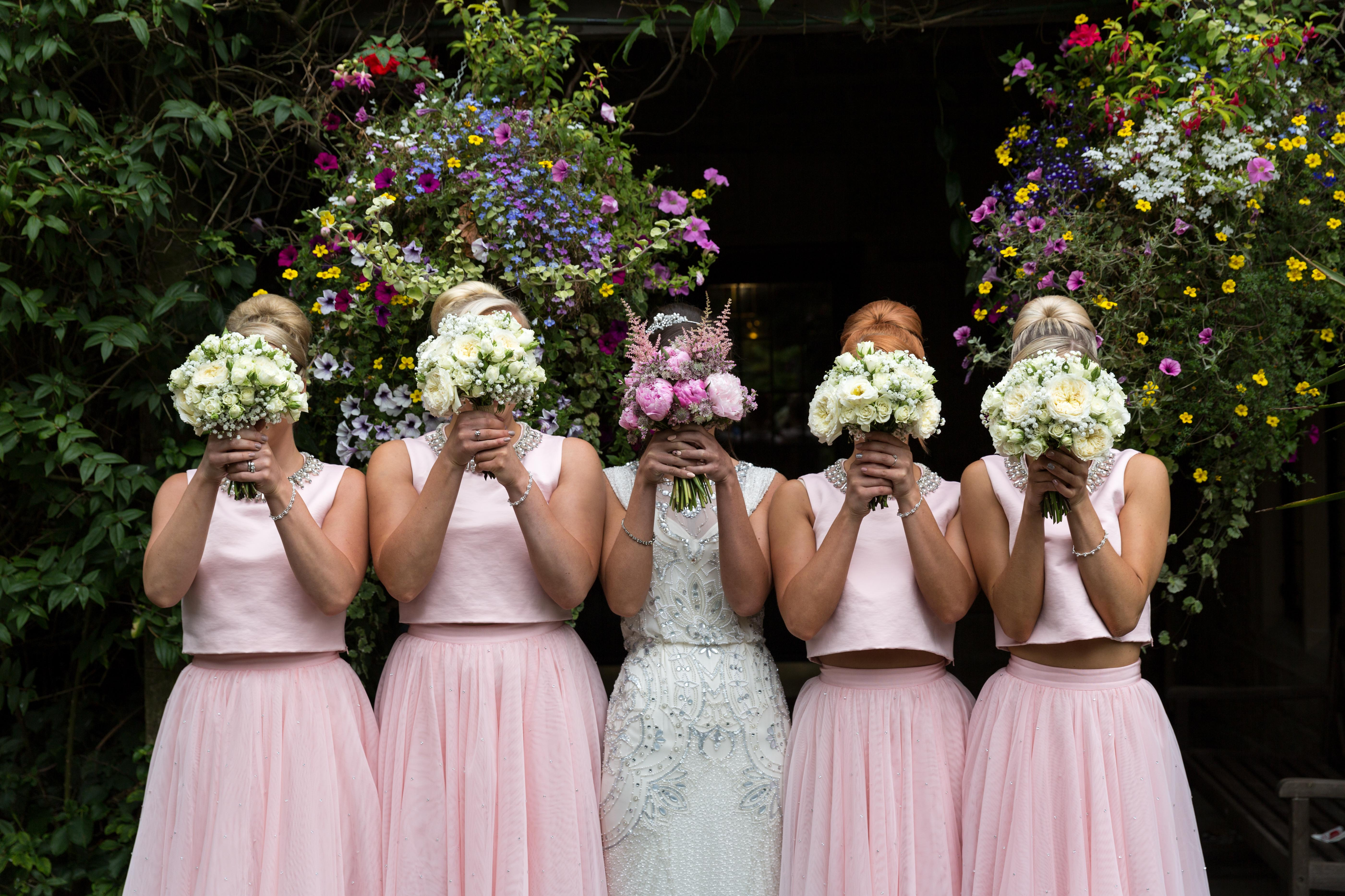 Bridal party photo by Jack Cook