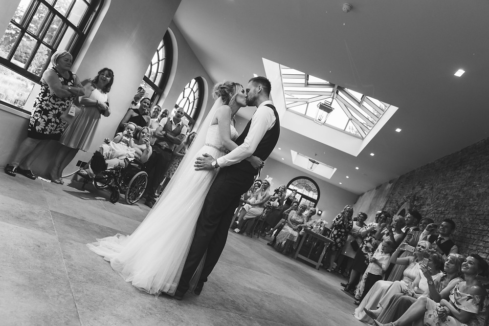 The bride & Groom during the first dance