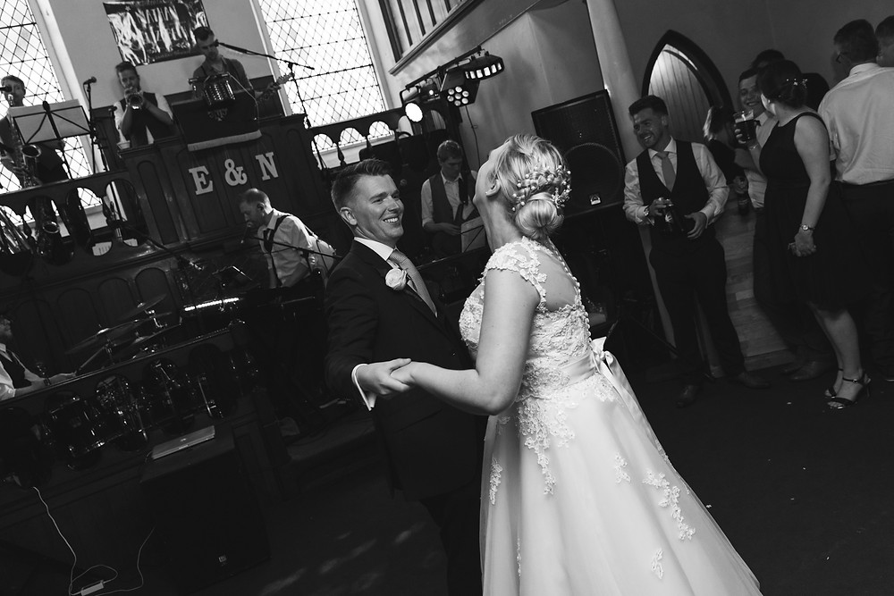 The first dance by Whitby wedding photographer