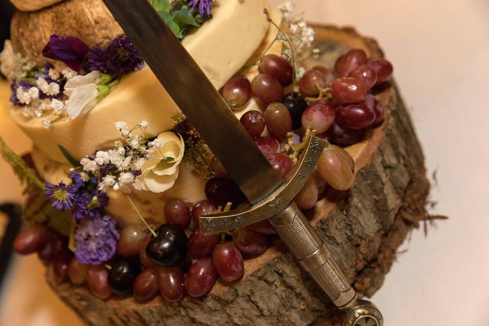 detail shot of the wedding 'cake'