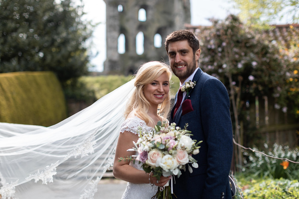 Wedding portraits by Whitby wedding photographer