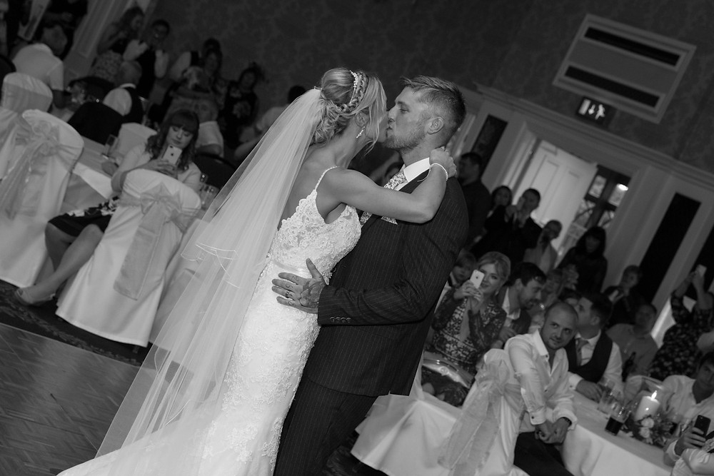 The first dance by Yorkshire wedding photographer