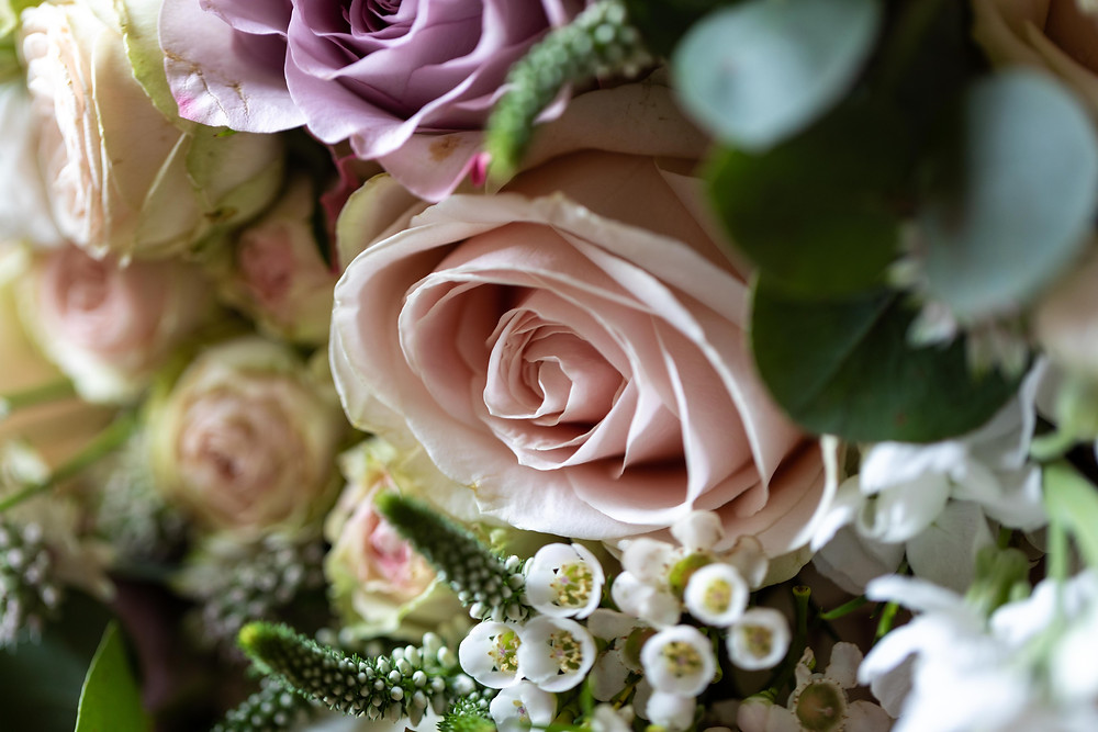 Wedding photography of the bride's bouquet