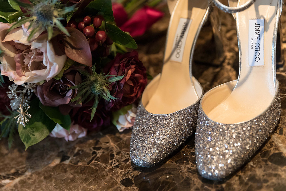 documentary wedding photography: The brides shoes