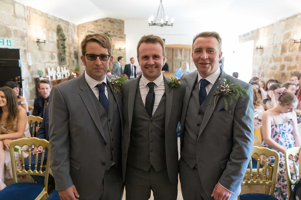 The groom & his best men captured by Jack Cook