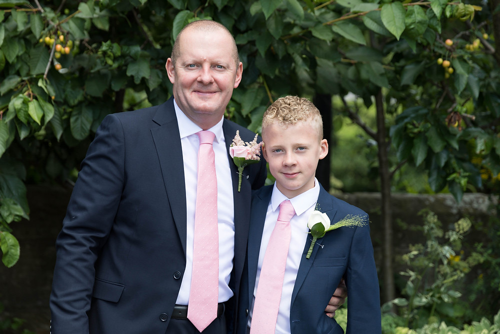 The groom & his son captured before the wedding