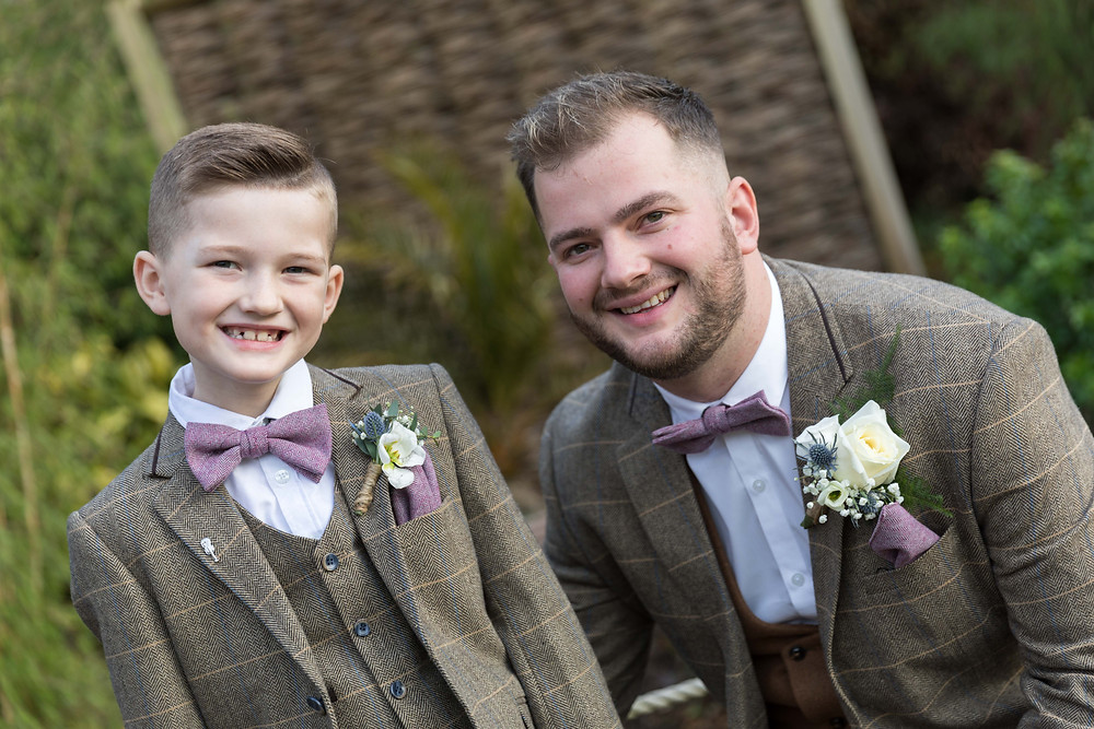 The Groom & his son before the wedding