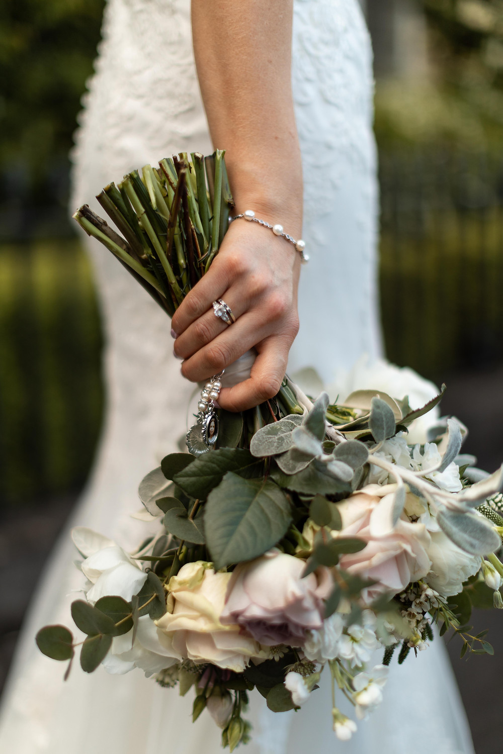 wedding photo of the brides flowers