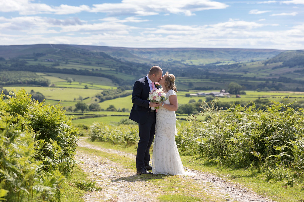 Wedding photography of happy couple in North Yorkshire