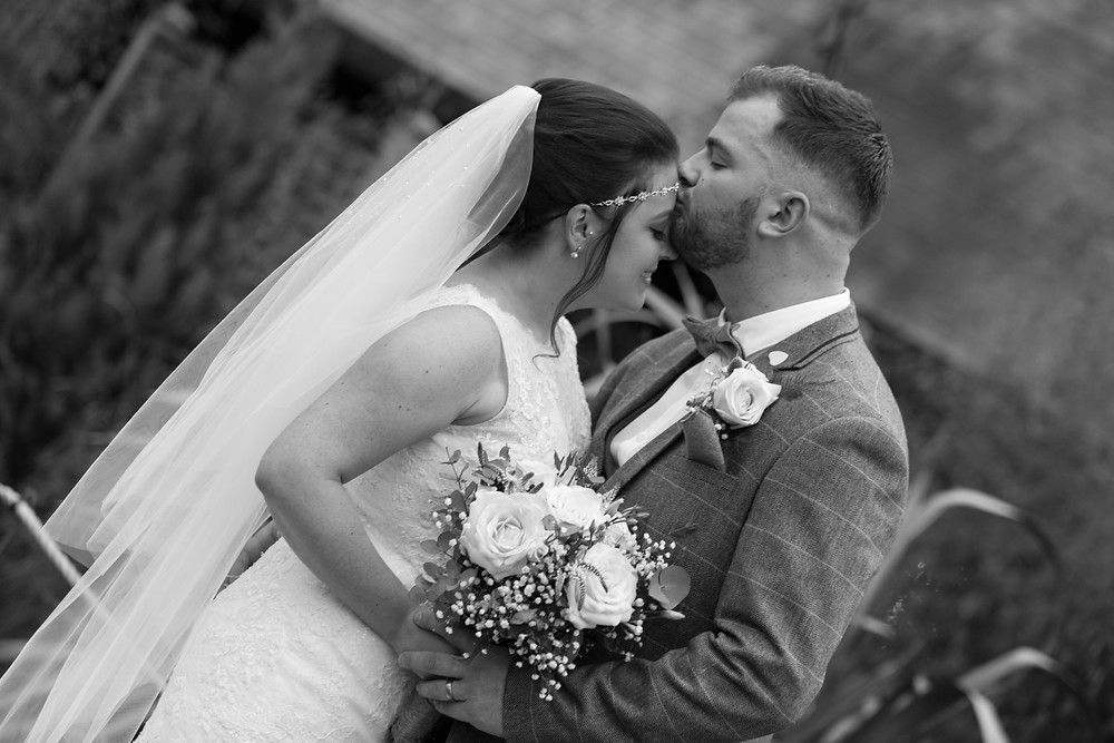 Black & white photo by North Yorkshire Wedding photographer