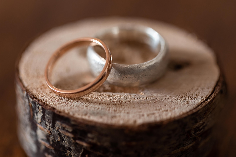 Photo of the wedding rings by Jack Cook Photography