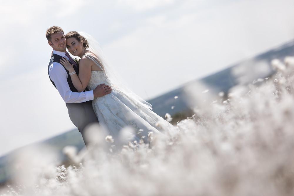 Wedding portrait of the happy couple