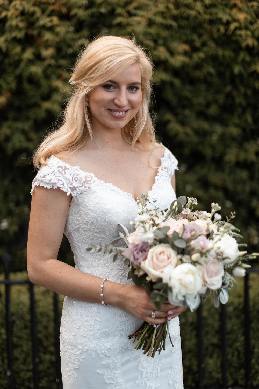 Wedding portrait of the beautiful bride