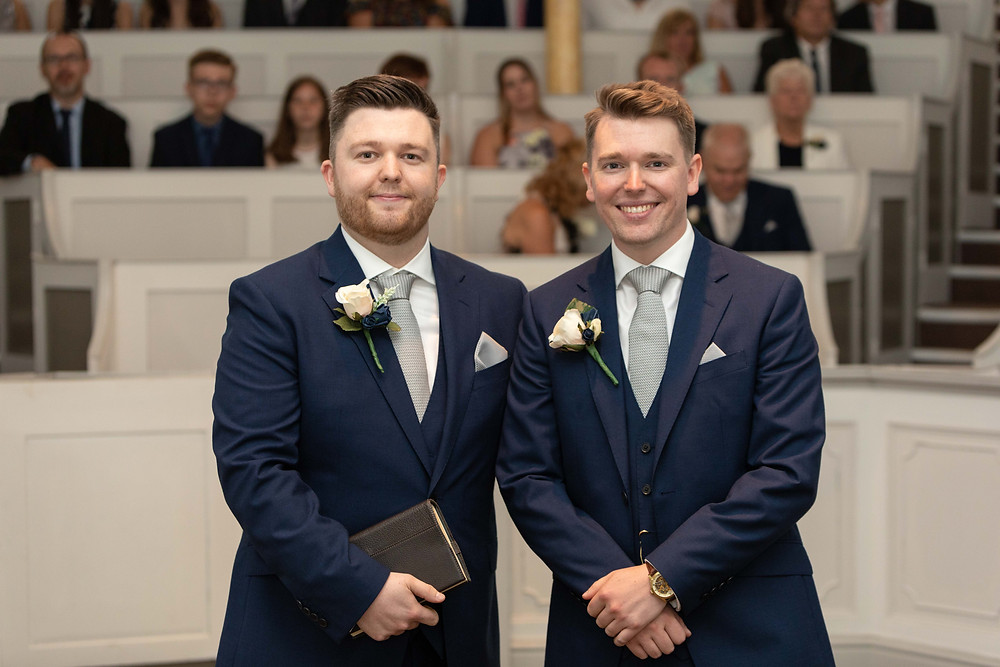 The Groom & Best man by North Yorkshire wedding photographer