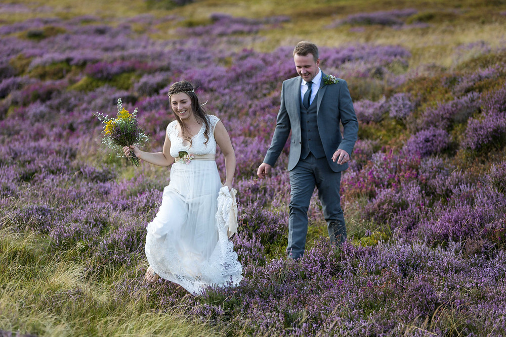The couple walking in the north Yorkshire moors