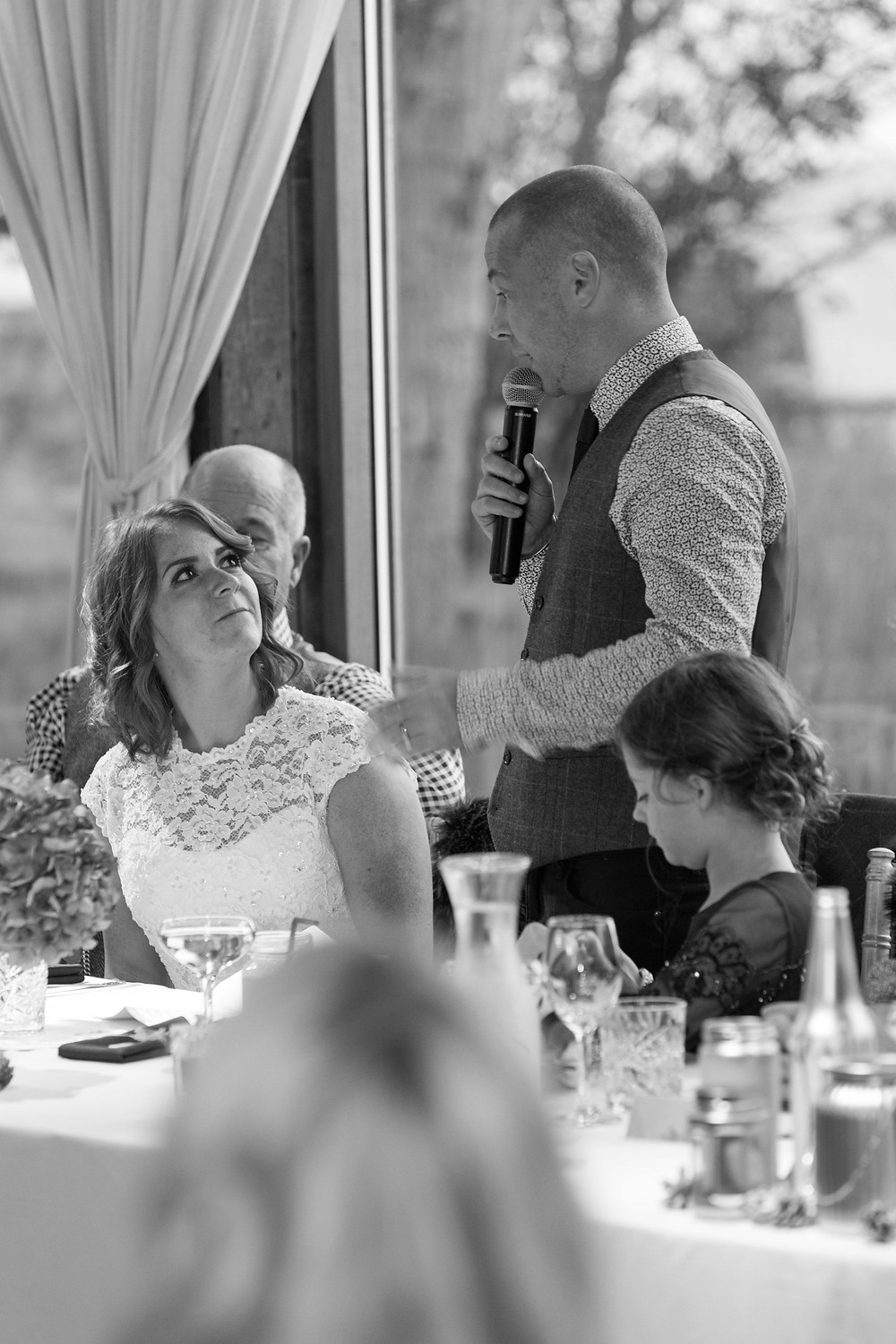 The Groom during his speech