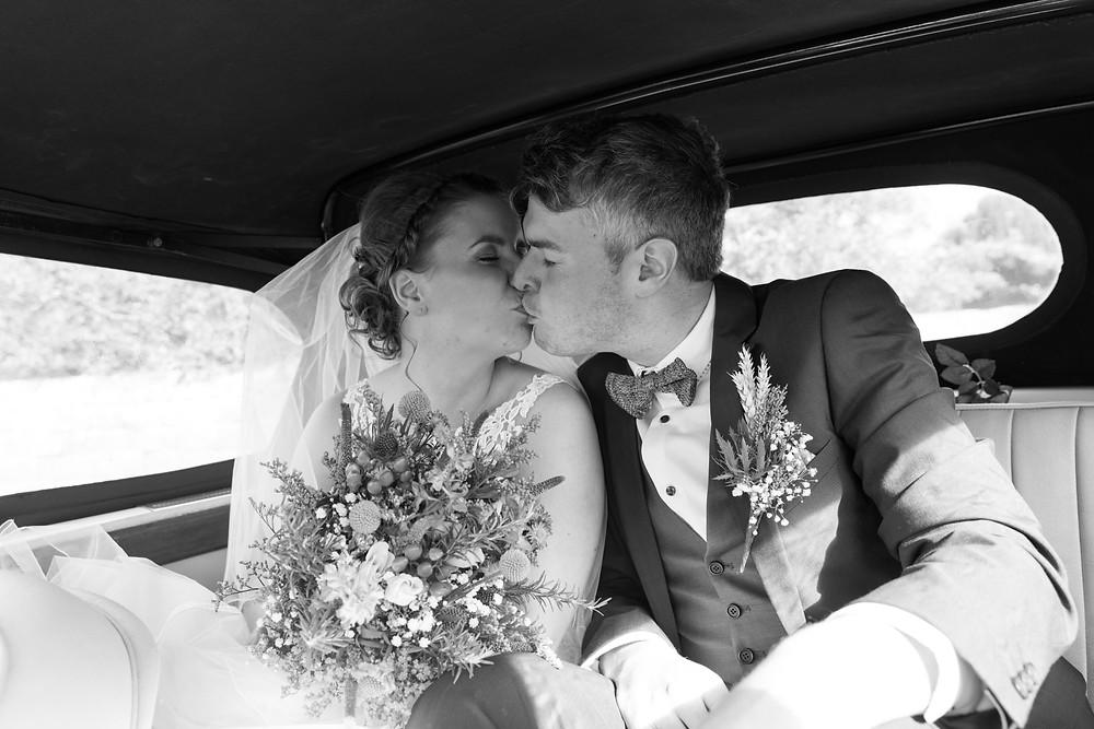 Wedding photographer captures the wedding car
