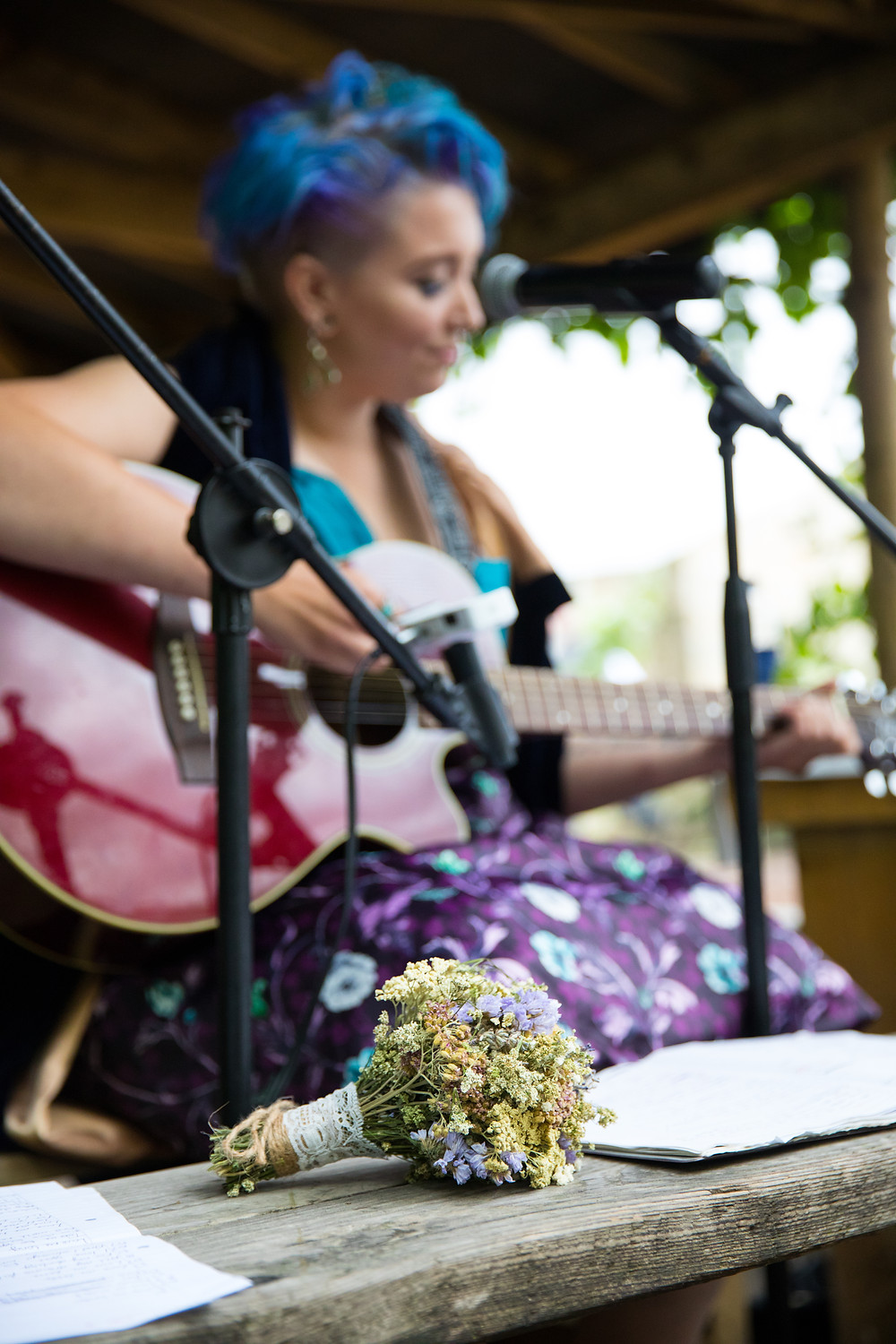 Bridesmaid performs a song in this image by Jack Cook photography