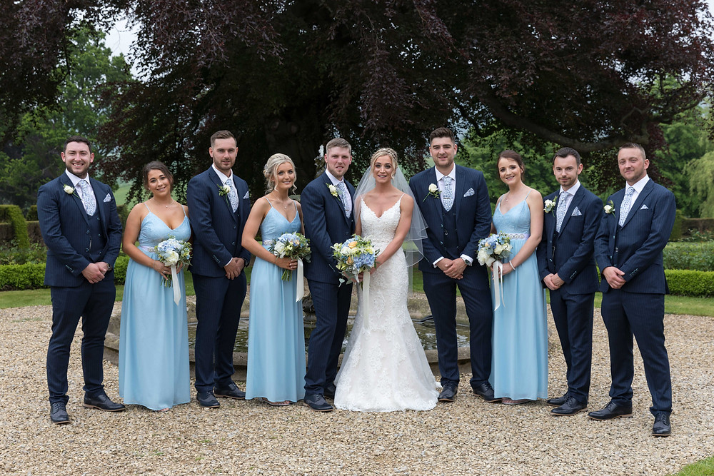 Group photo by Whitby wedding photographer