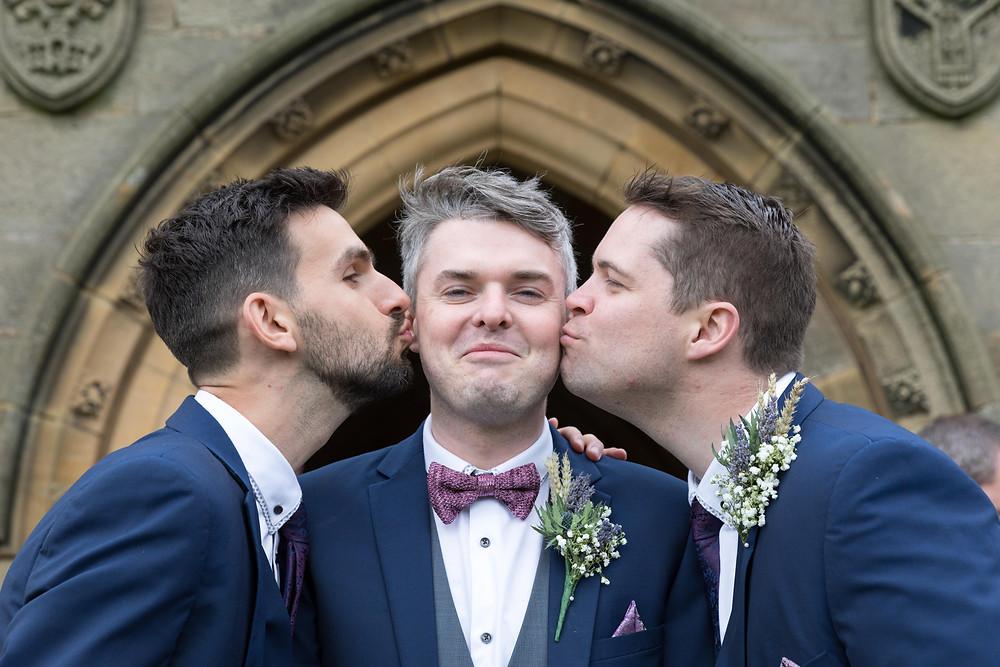 Wedding photo of the Groom & his ushers