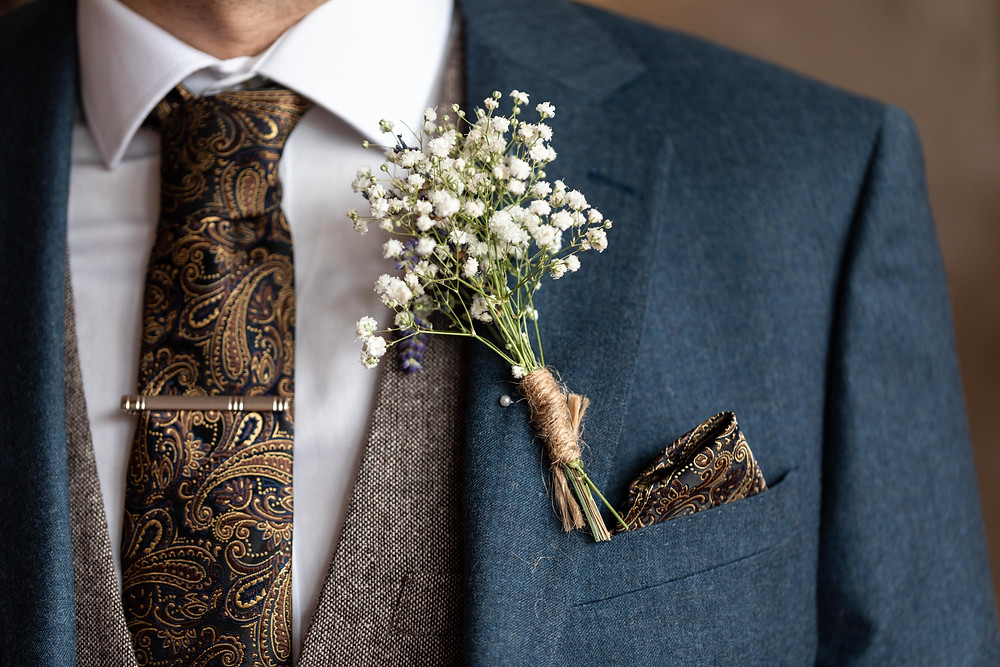 Wedding photography of the Grooms details