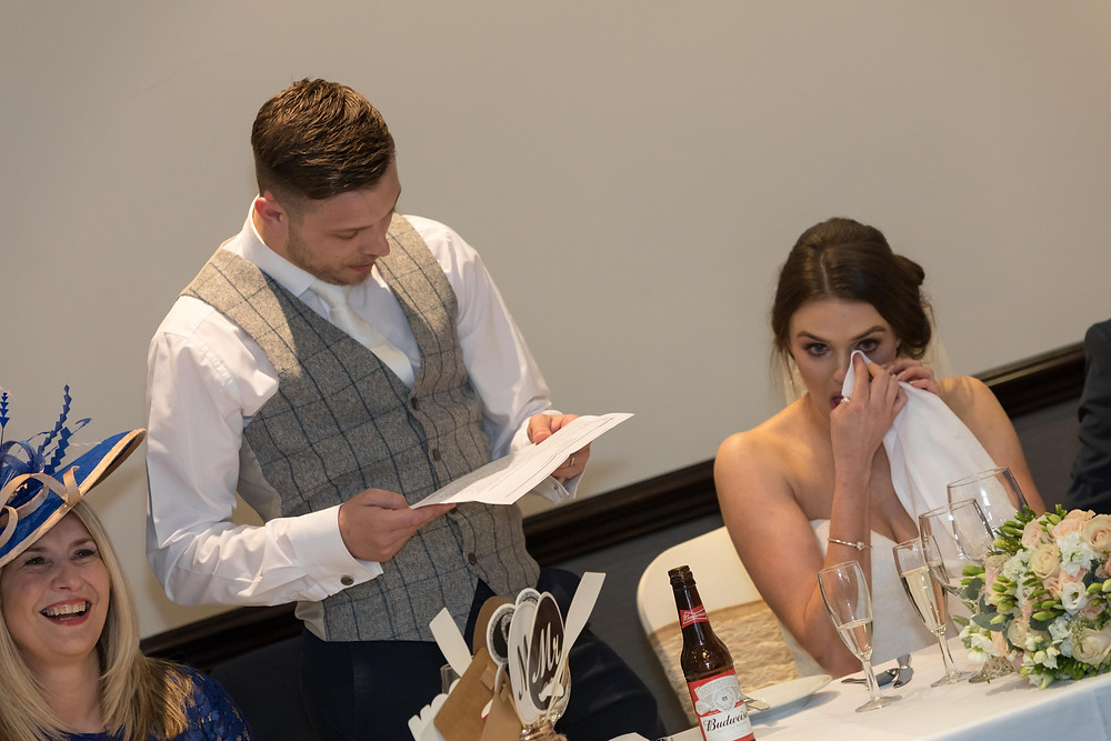 The groom's speech by Jack Cook photography
