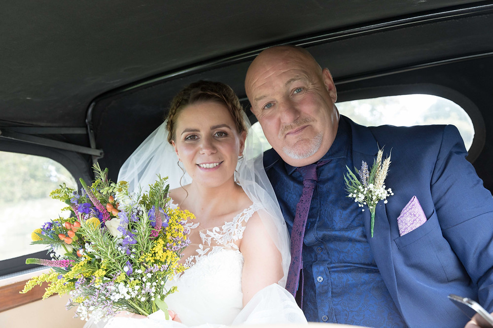 wedding photo of the Bride & her Father