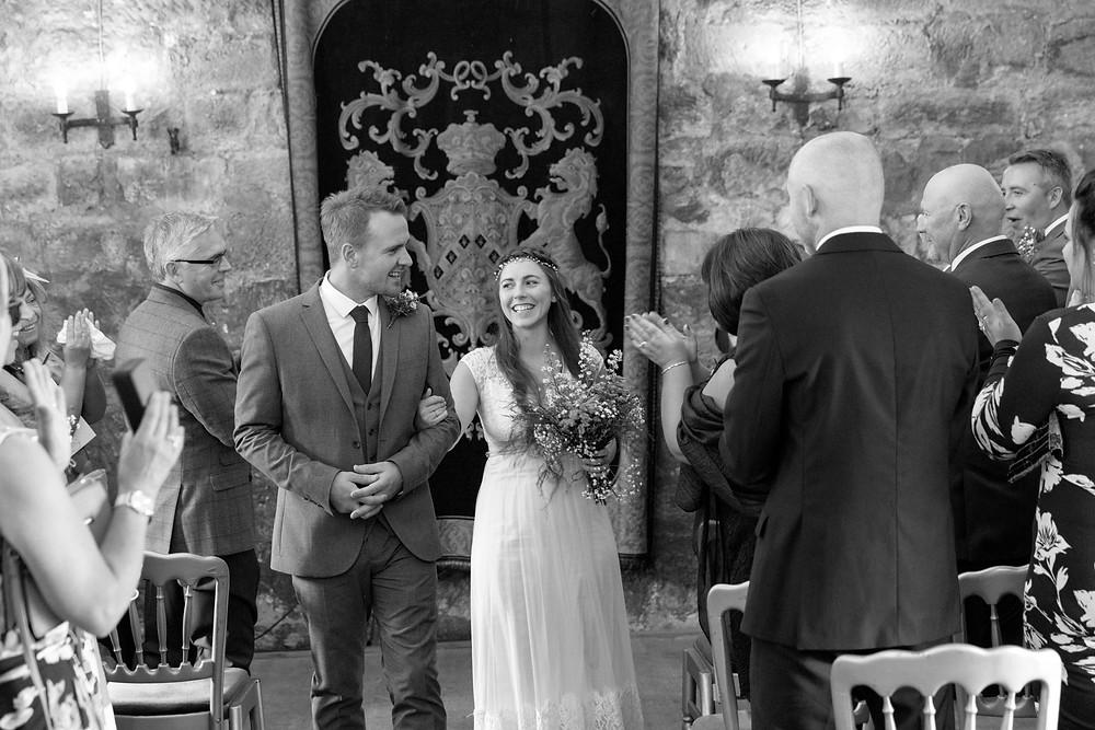Wedding photographer: Just married couple