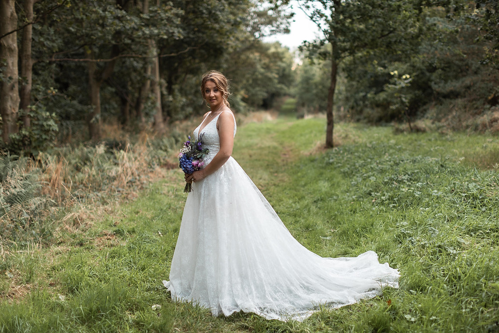 The stunning bride in her dress captured by Jack Cook