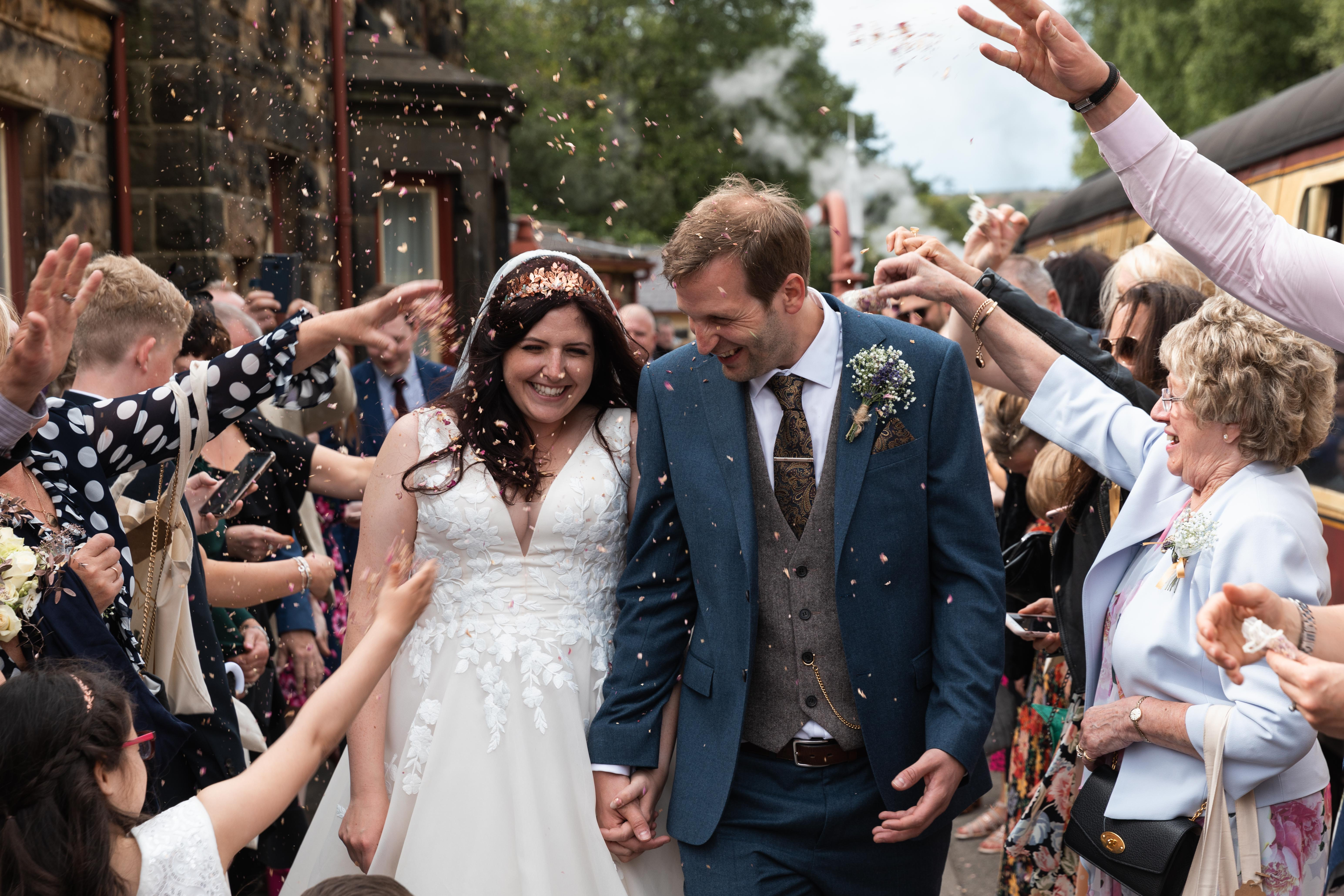 Wedding confetti photograph