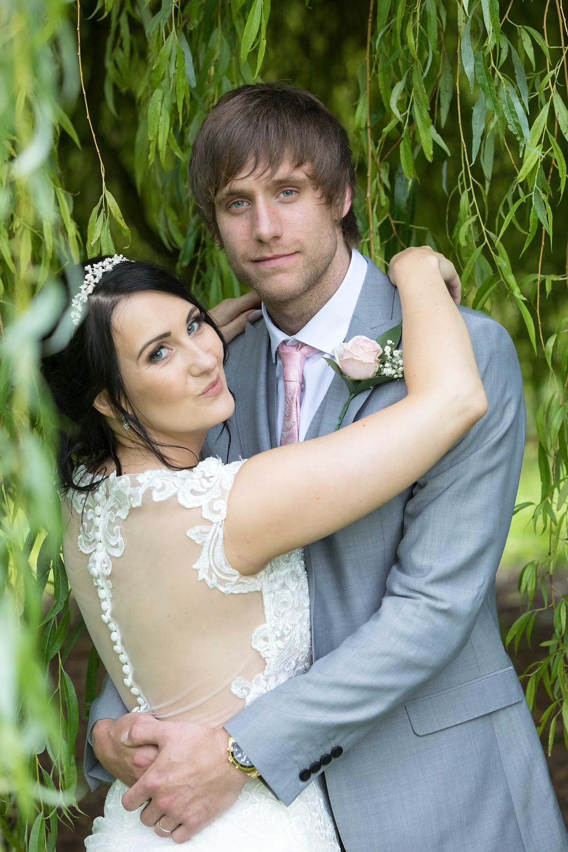 wedding portrait photograph of bride & groom
